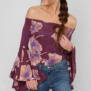 We the Free Birds of Paradise Bell Sleeve Top